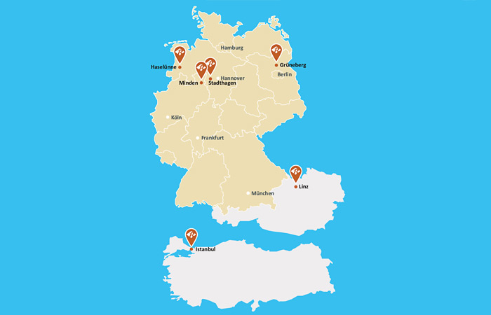 Berentzen group – Our locations